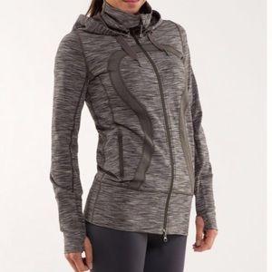 Lululemon Stride Jacket Wren Space Dye Zip Up Gray